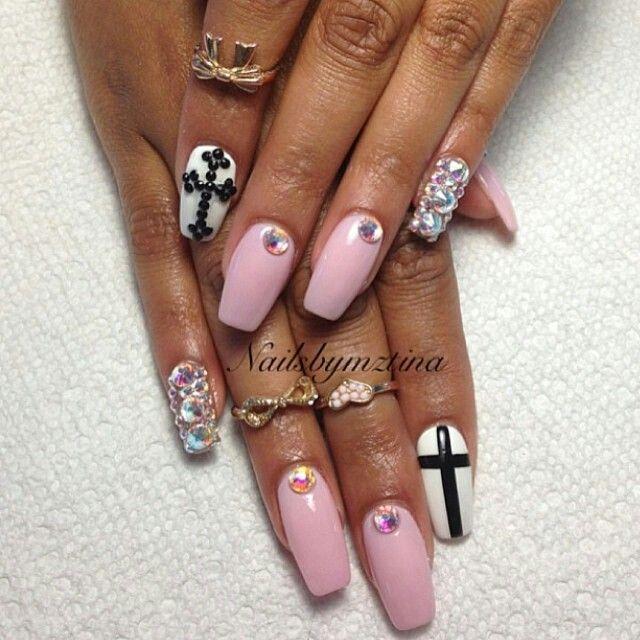 Nails By: Mz Tina   Uñas hermosas, Uñas picudas, Uñas largas