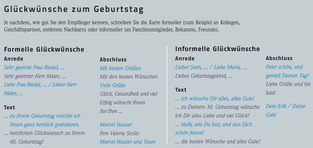 Geburtstagskarte schreiben | Auf Deutsch | Pinterest | German ...