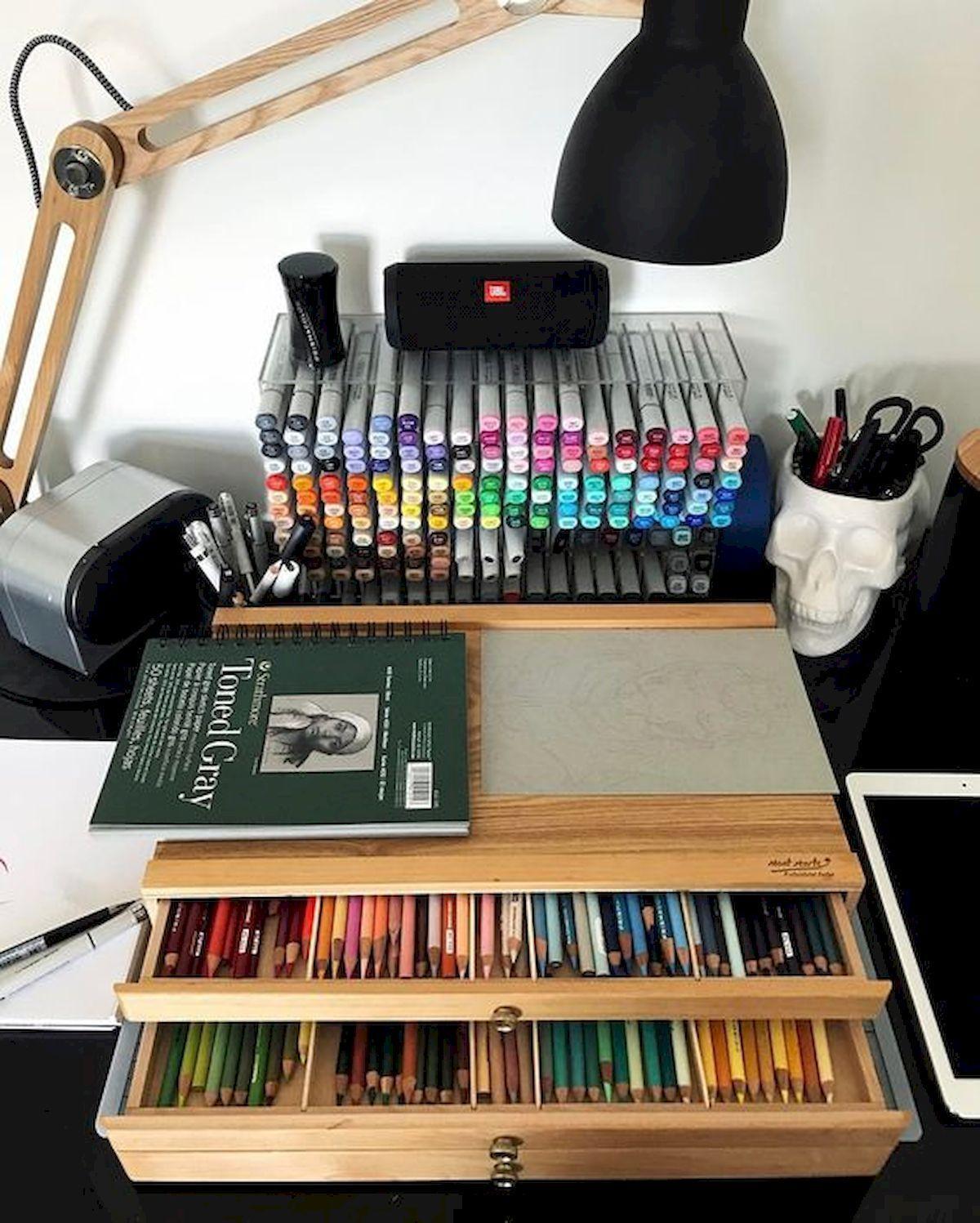 60 Most Popular Art Studio Organization Ideas and Decor (1 images