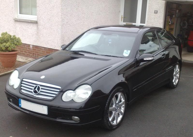 My 23rd vehicle  a black 2002 Mercedes C230 Kompressor Hatchback