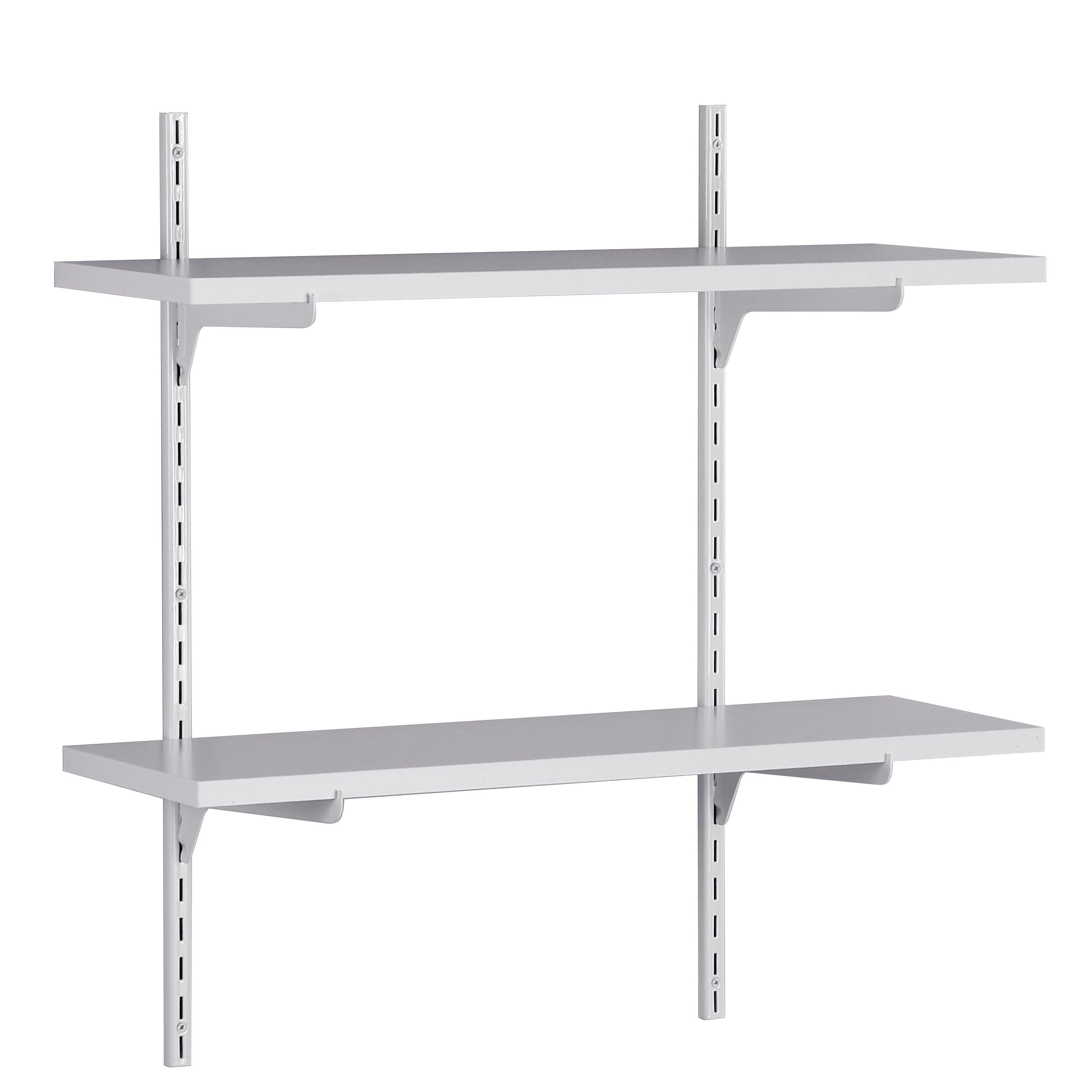 Our Adjustable Two Shelf Kit Is A Simple And Easy Way To Store Miscellaneous Items In Your Garage Shelves Shelving Design Closetmaid