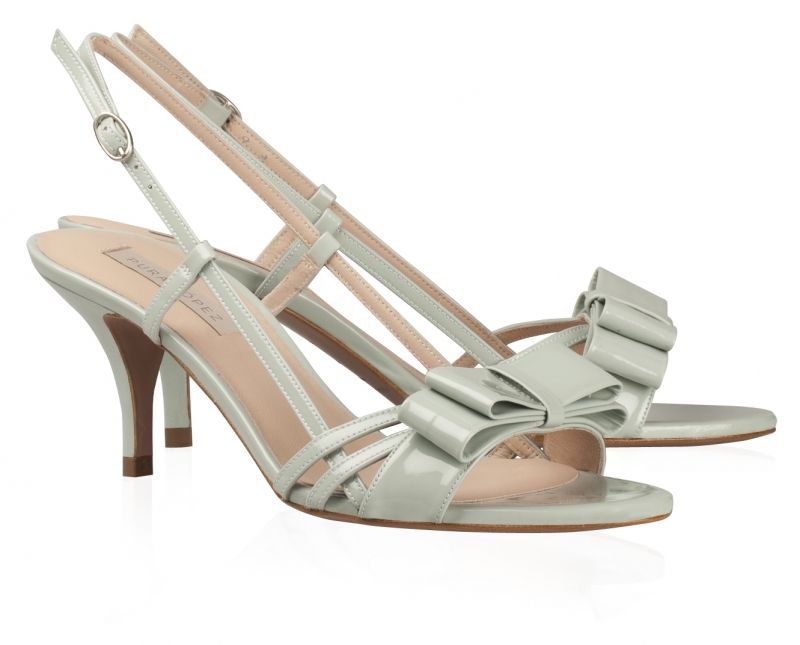 4157e42ed36 Slingback strap.Silver buckle.Nude leather lining.Leather sole.Made in  Spain. Pura Lopez AB207 - Versatile medium heel sandal ...