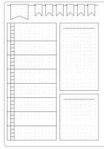 תוצאת תמונה עבור Blank Bullet Journal Templates