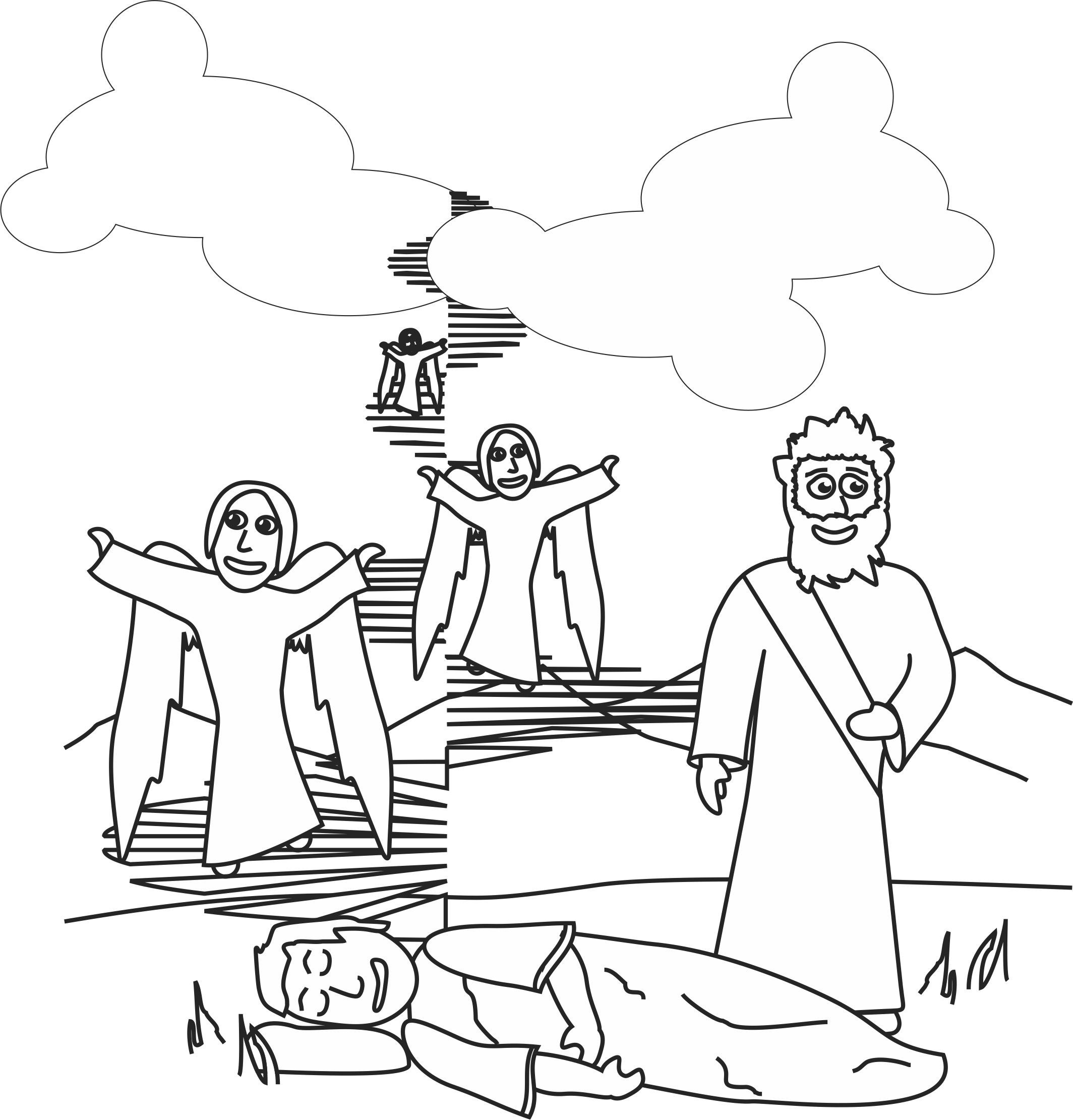 Jacob S Ladder Coloring Page