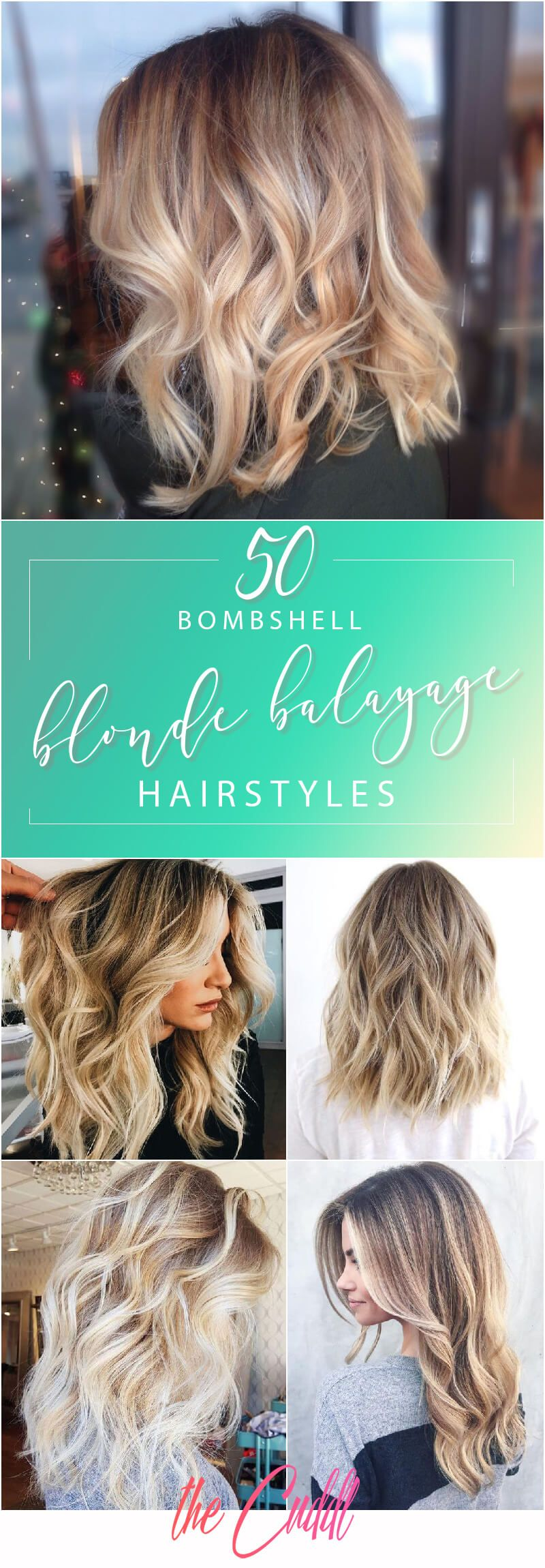 bombshell blonde balayage hairstyles that are cute and easy for