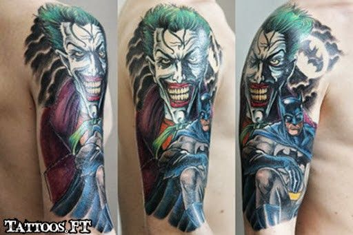 Batman Joker Tattoo Sleeve