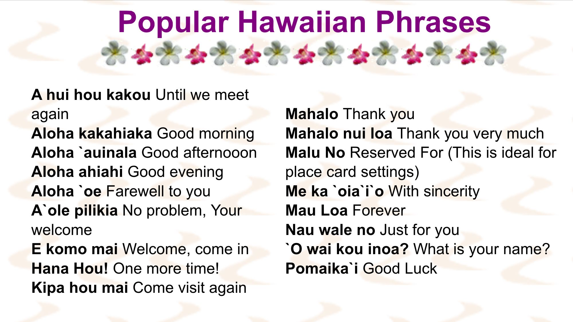 Maui hookups meaning