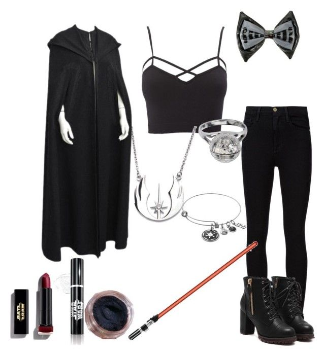 """The dark side"" by pappos-angel ❤ liked on Polyvore featuring Charlotte Russe, Frame Denim, Loungefly and Max Factor"