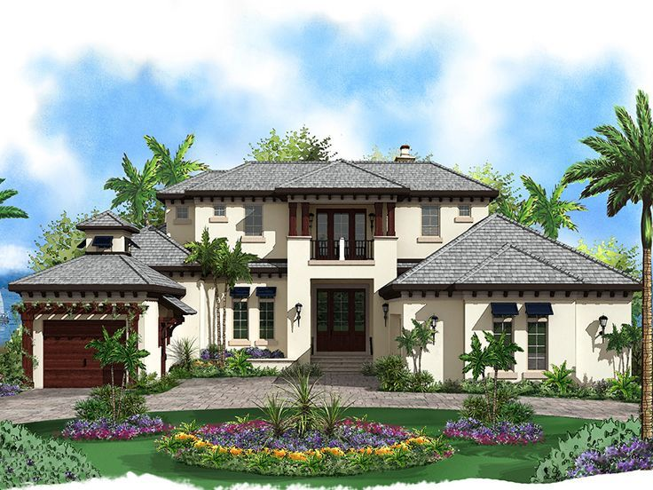 West Indies Home Plans Mediterranean Style House Plans Mediterranean House Plans House Plans With Pictures