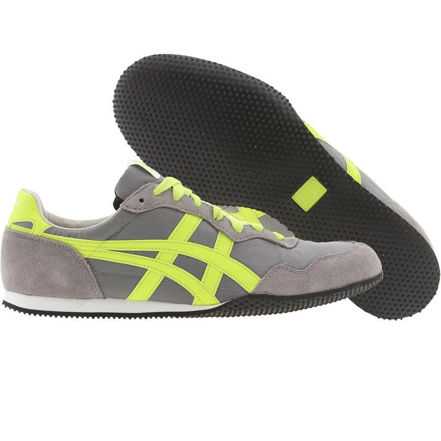 2c8806f05d10 Asics Onitsuka Tiger Womens Serrano (charcoal   flash green) D159L-7387 -   64.99