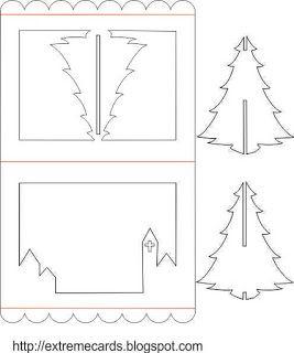 Moldes para tarjetas navidenas en 3d