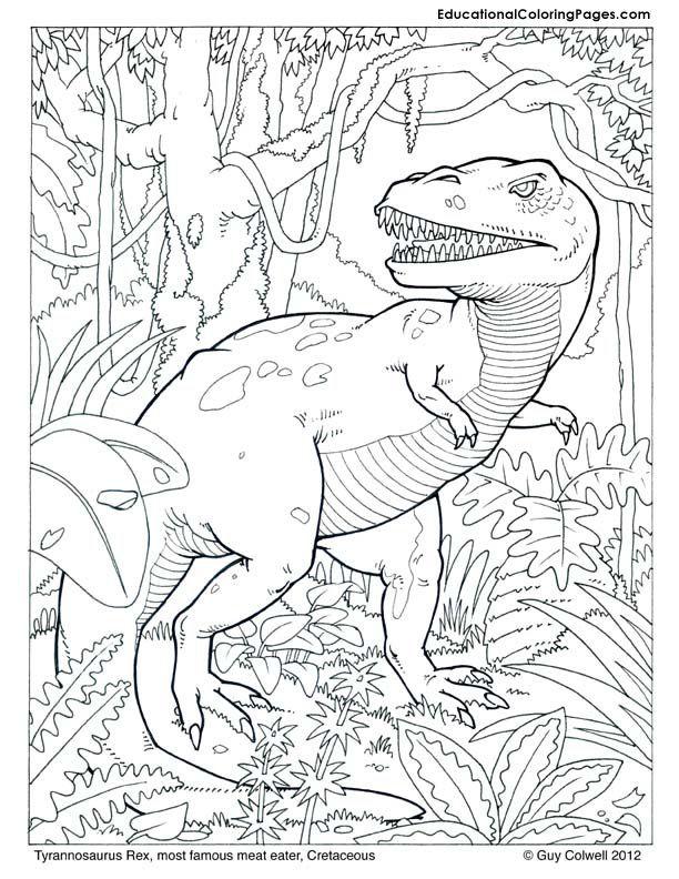 dryosaurus kleurplaat kleurplatenl