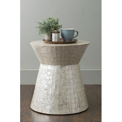 Courtnay Drum End Table Round Accent Table End Tables