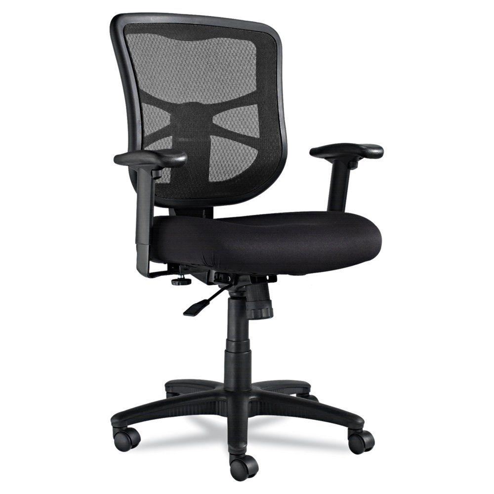 Alera Elusion Series Mesh Mid Back Swivel Tilt Chair Black Best Ergonomic Office Chair Best Ergonomic Chair Alera