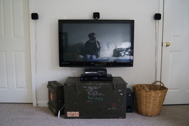 House Pour How To Hide Surround Sound Wires Wall Mounted Tv
