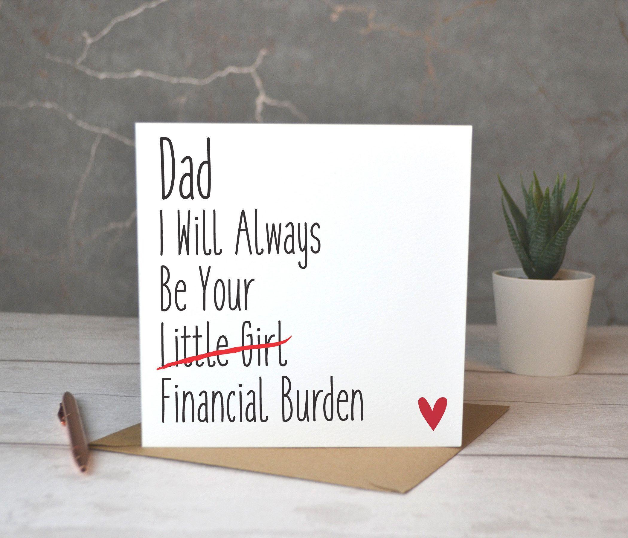 Printable Happy Birthday Card Download Birthday Card Etsy Dad Birthday Card Father Birthday Cards Dad Cards