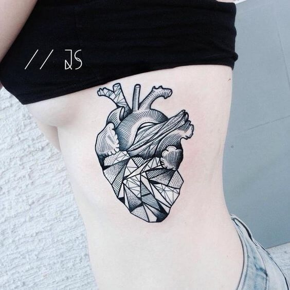 Amazing Tattoos Heart Beat With Dates: 50 Heart Tattoos For Women