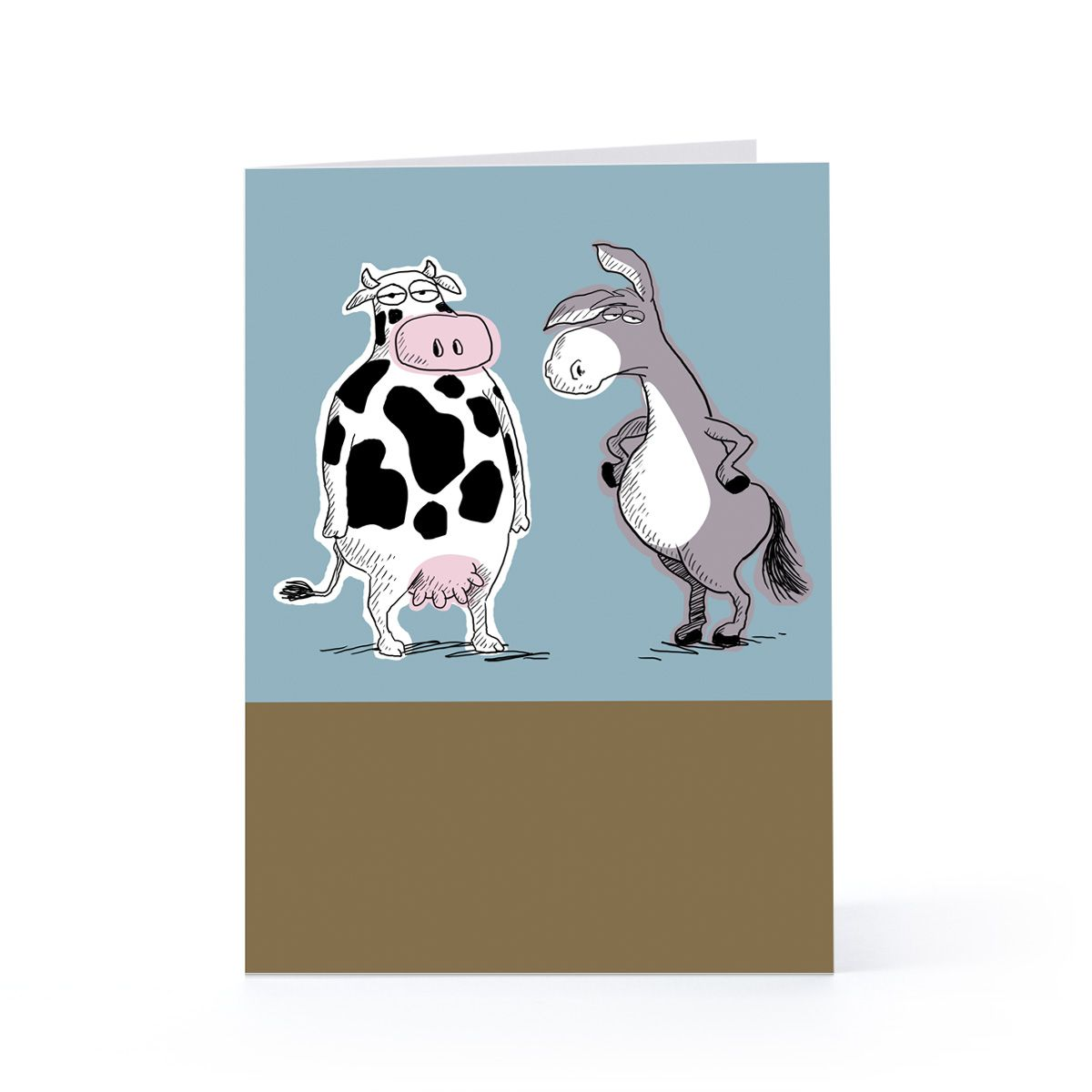 Cow and donkey joke birthday greeting card hallmark cards cow and donkey joke birthday greeting card hallmark kristyandbryce Image collections