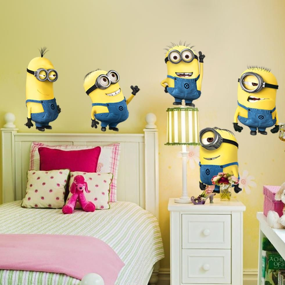 Minions in your bedroom! #sidetables modern design #kidsroom ...