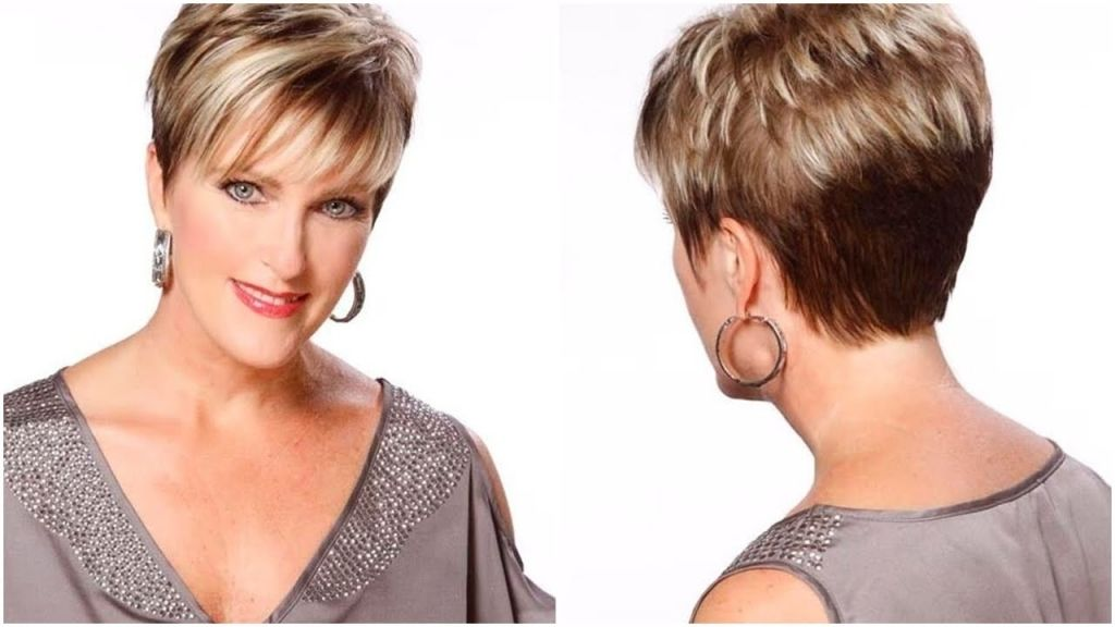 Short Hairstyles Round Faces Over 50 Model
