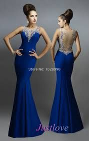 Resultado De Imagen Para Vestido Azul Rey Largo Vestidos