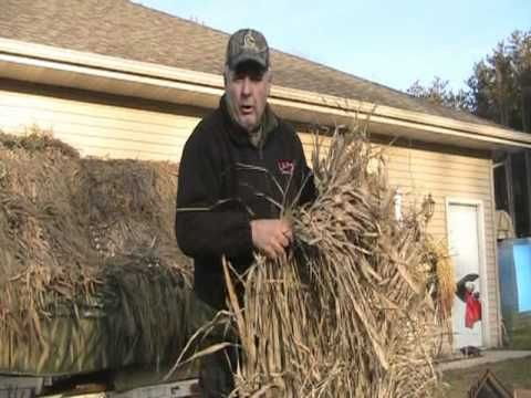 How To Make A Grass Mat For A Blind For Duck And Goose