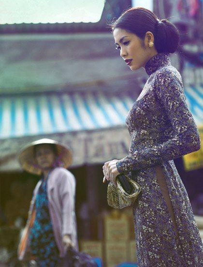 Tang Thanh Ha - Ao dai viet nam. Photo by TangTang