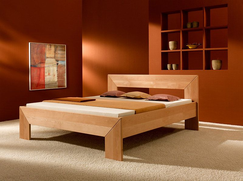 Bed Frame Made From Solid Beechwood With Images Wood Bed