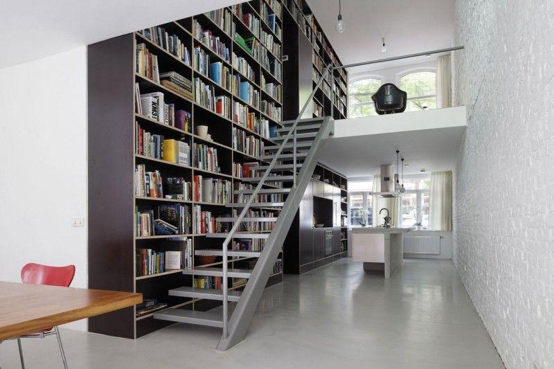 Loft, diseño y planos de una moderna casa Loft diseño, Planos de - bibliotecas modernas en casa