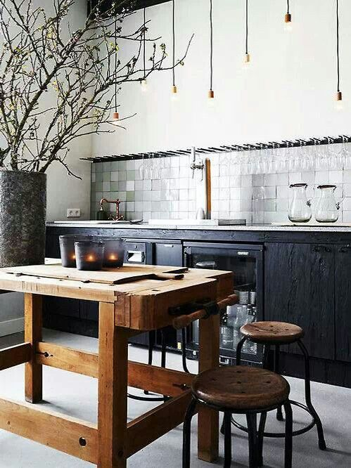 Modern Rustic Kitchen Color Scheme Inspiration Dining