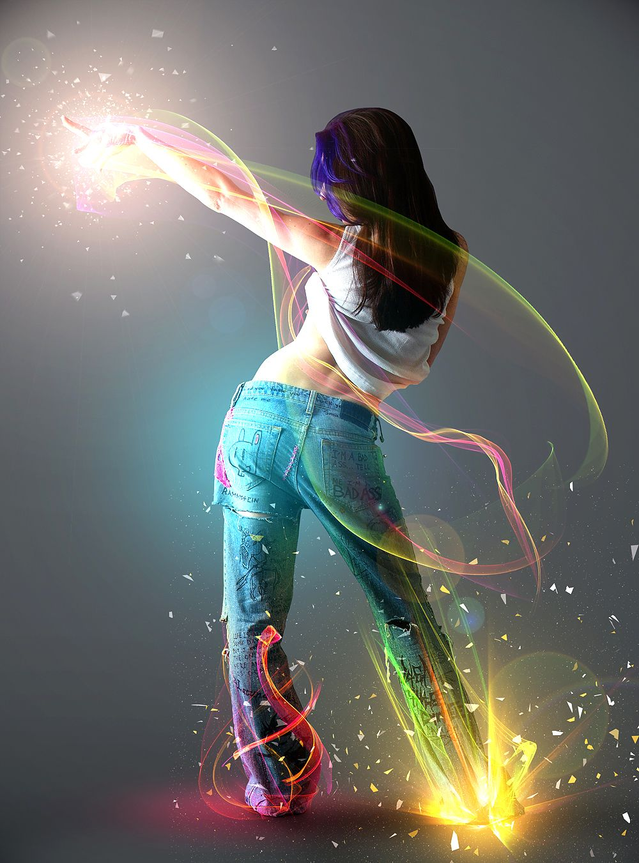 Show me the light digital art tutorial psd box graphics 20 stunning dance photo manipulation tutorials for photoshop baditri Gallery
