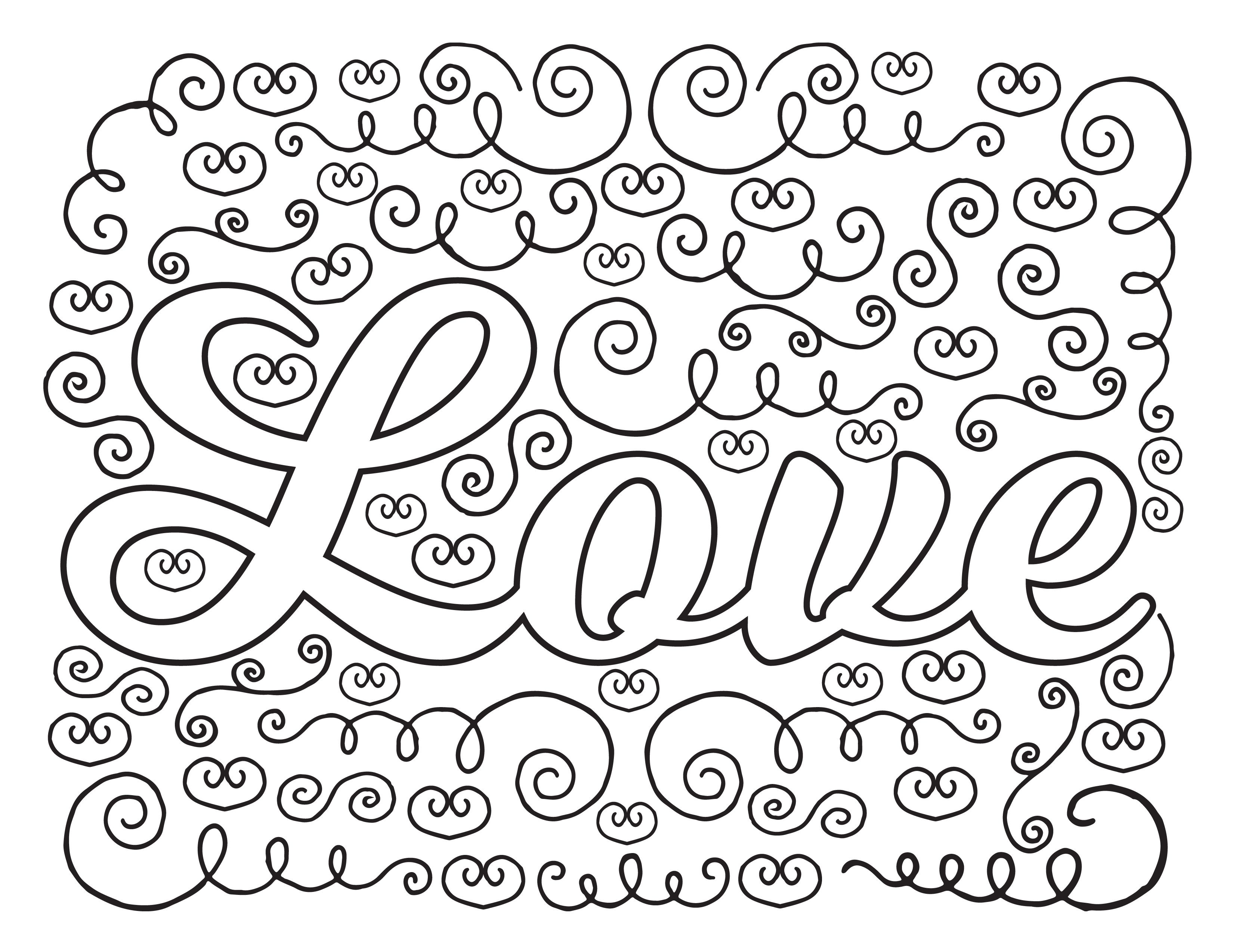 Love Coloring Page Free Printable Count The Hearts And
