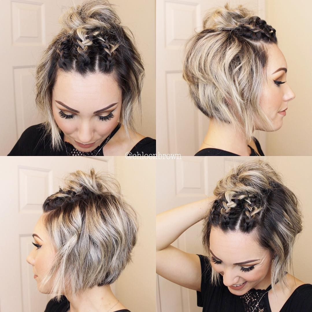 Pin On Braided Top Knot
