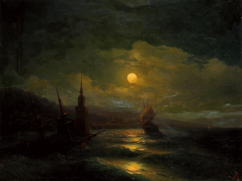 к айвазовский лунная ночь картинка декорирования