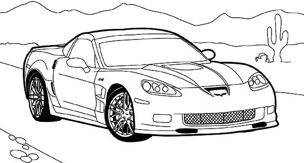 Corvette Cars EVS Chevrolet Coloring Pages