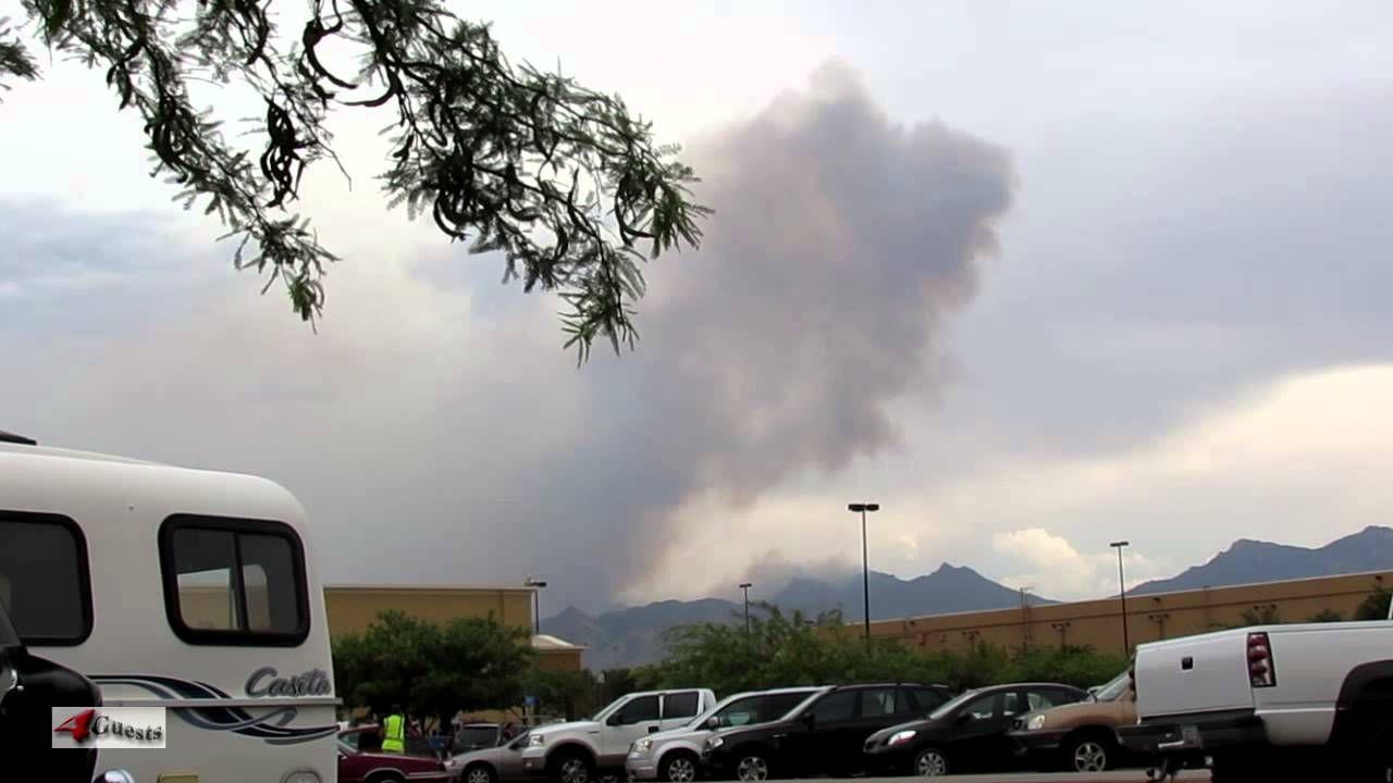 Arizona forest fire hualapai mountains near kingman az
