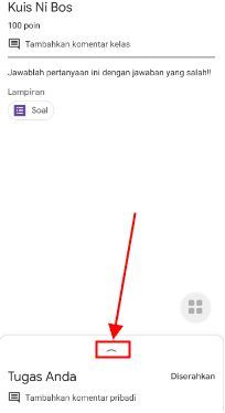 cara menghapus jawaban tugas d google classroom