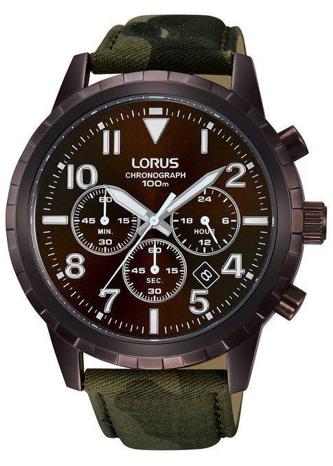 7f2c8c36b8ea Relojes Lorus hombre-reloj cronógrafo de cuarzo de cuero deportivo RT339FX9