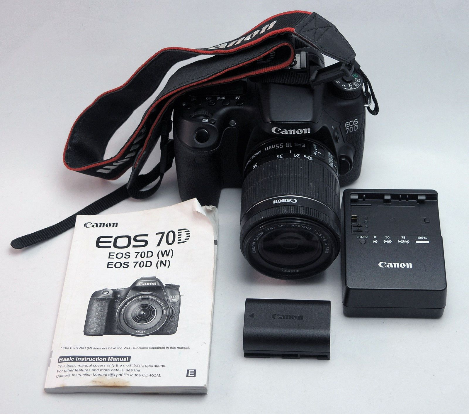 Canon EOS 70D (W) WiFi Digital SLR Camera with 18-55MM Lens