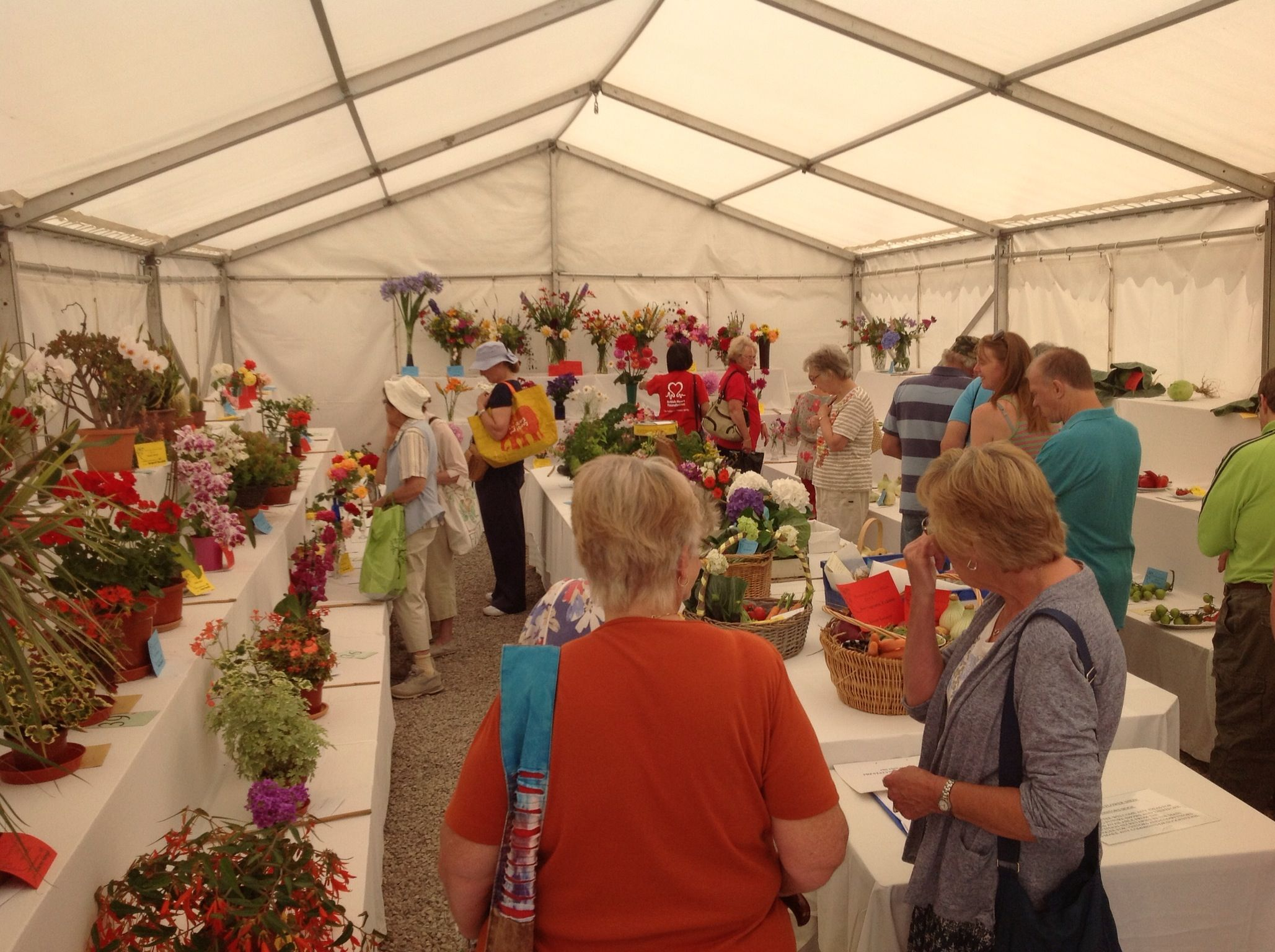 Exhibit Tent At Prestatyns Annual Flower Show Held In The