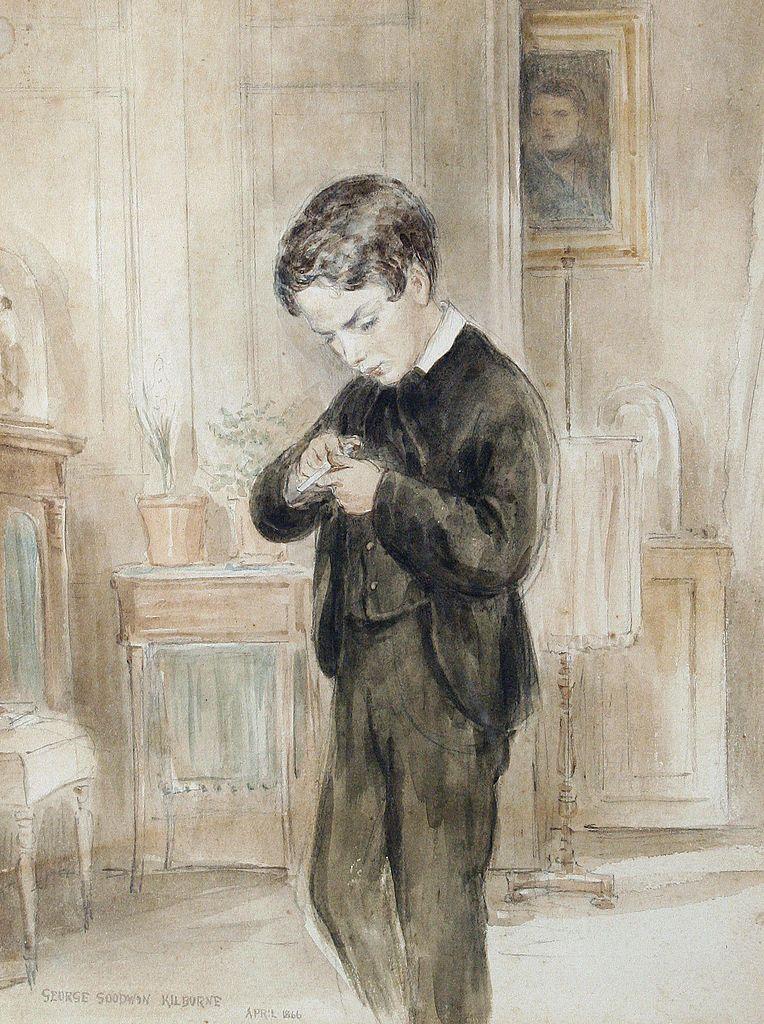 Eton schoolboy (1866) - George Goodwin Kilburne - (English, 1839 - 1924)
