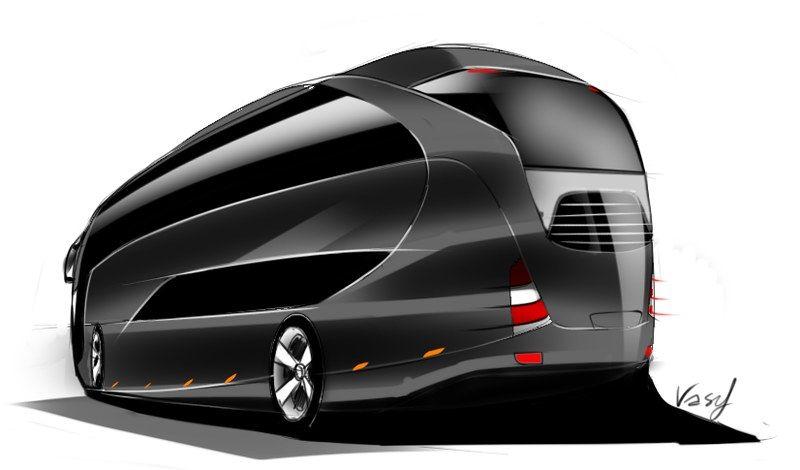 Concept Bus Double Decker Para Mercedes Benz Mercedes Benz Luxury Bus Benz