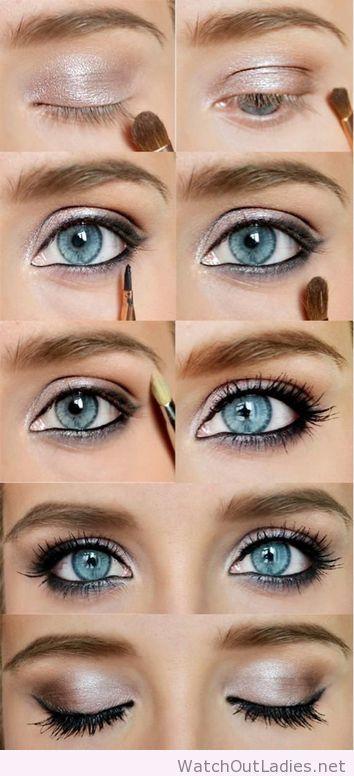 Amazing Makeup Tutorial For Blue Eyes Blue Eye Makeup Beautiful