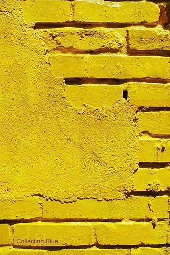 Yellow is a very bright happy feeling colour at times, but if you are around it for too long it can make you quite nauseas.