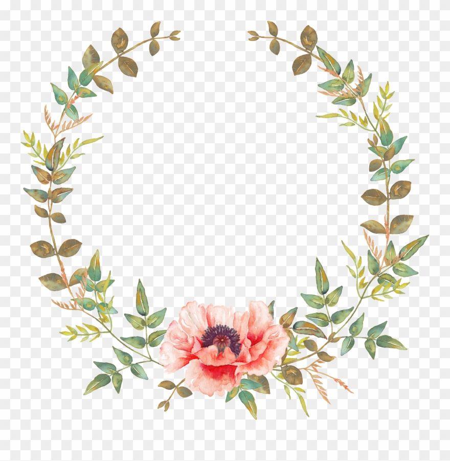 Undefined Free Clip Art Watercolor Flowers Flower Crown Wedding