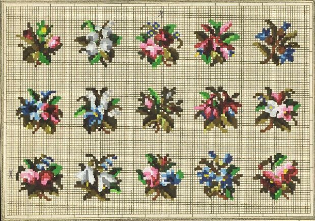 A Lovely Collection Of Small Berlin WoolWork Patterns