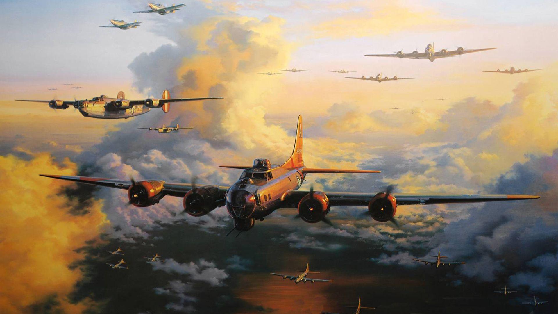 Обои Самолёт, B 17. Авиация foto 12