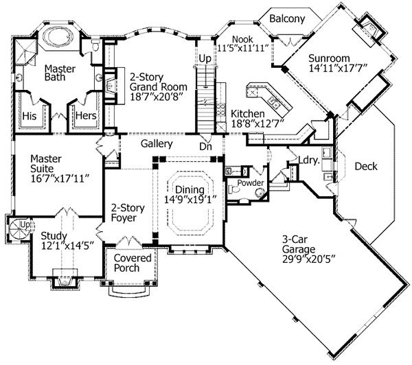 Plan 15664ge Spiral Stair To Loft In Study Floor Plans Dream House Plans House Plans