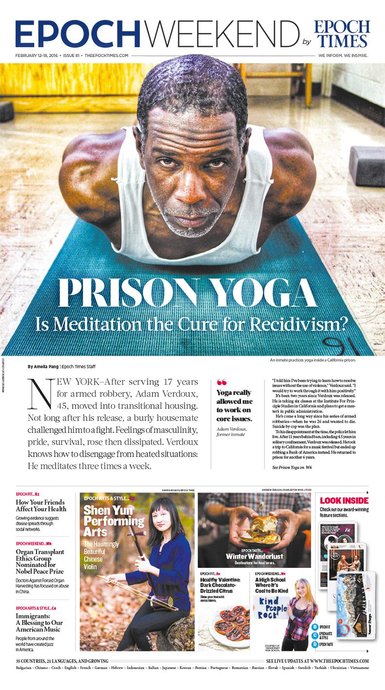 Prison Yoga Is Helping Inmates Transcend Their Cells: Prison Yoga: Is Meditation The Cure For Recidivism?|Epoch
