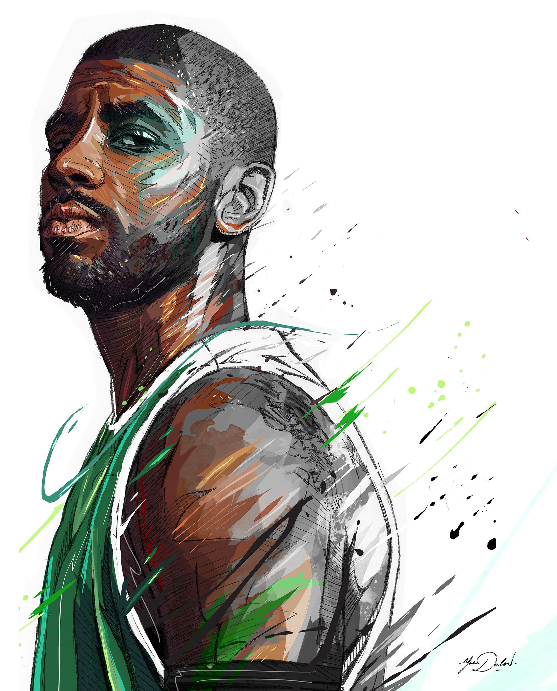 3bcc9047cb4b My painting of the famous player of the Boston Celtics